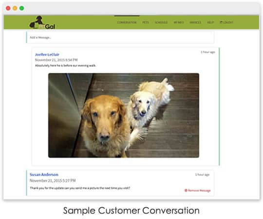 pet sitting client portal