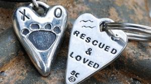 Rescued & Loved Dog Pendant